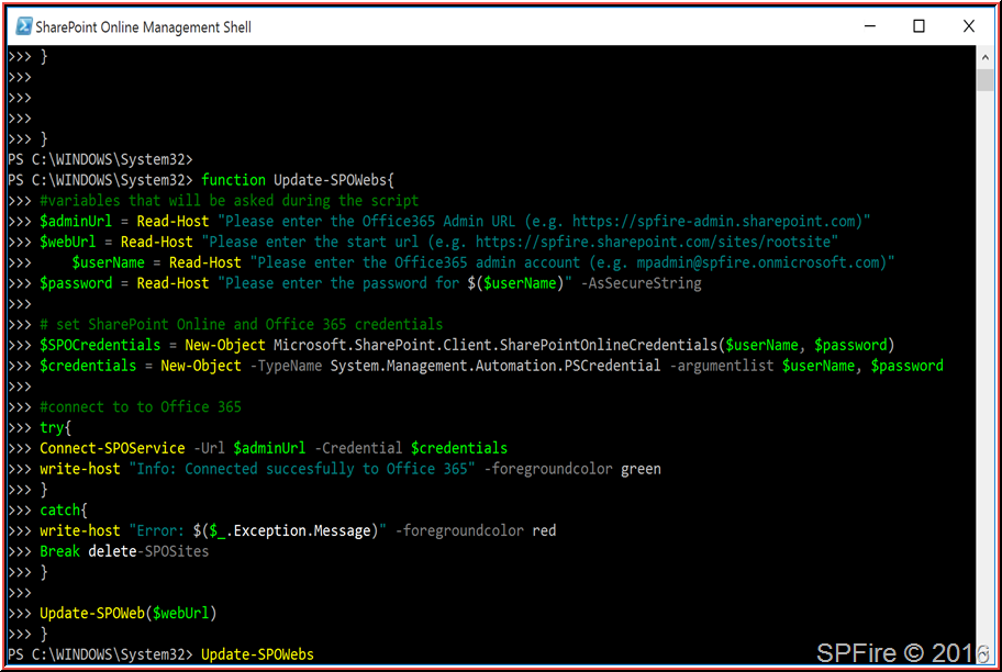 PowerShell to loop through each SharePoint Online site with CSOM