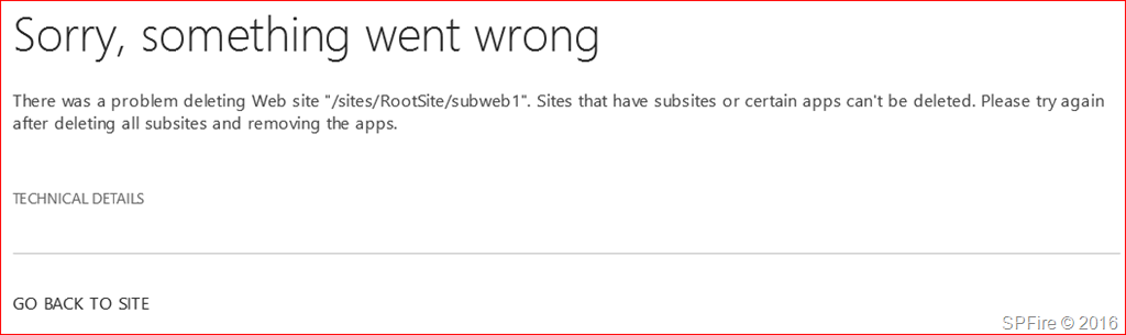 Removing site, web and subwebs from SharePoint Online PowerShell