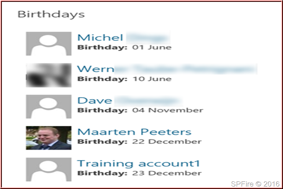 Sharepoint Birthday And Anniversary Web Part Using Search Results
